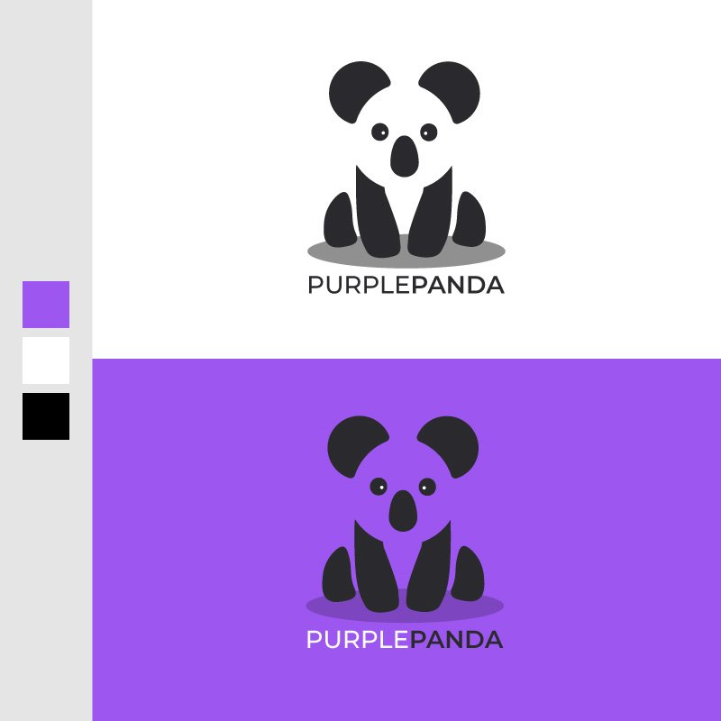 Purple Panda Logo Design