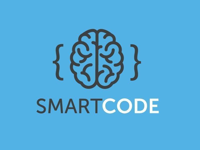 Smart Computer Code Logo Design