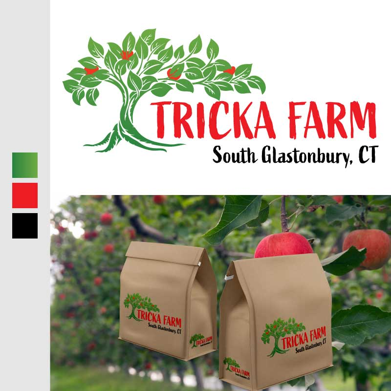 Tricka Farm Apple Orchard Logo