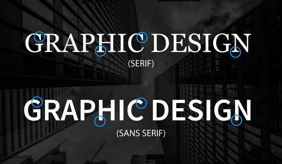 Serif and Sans Serif Font